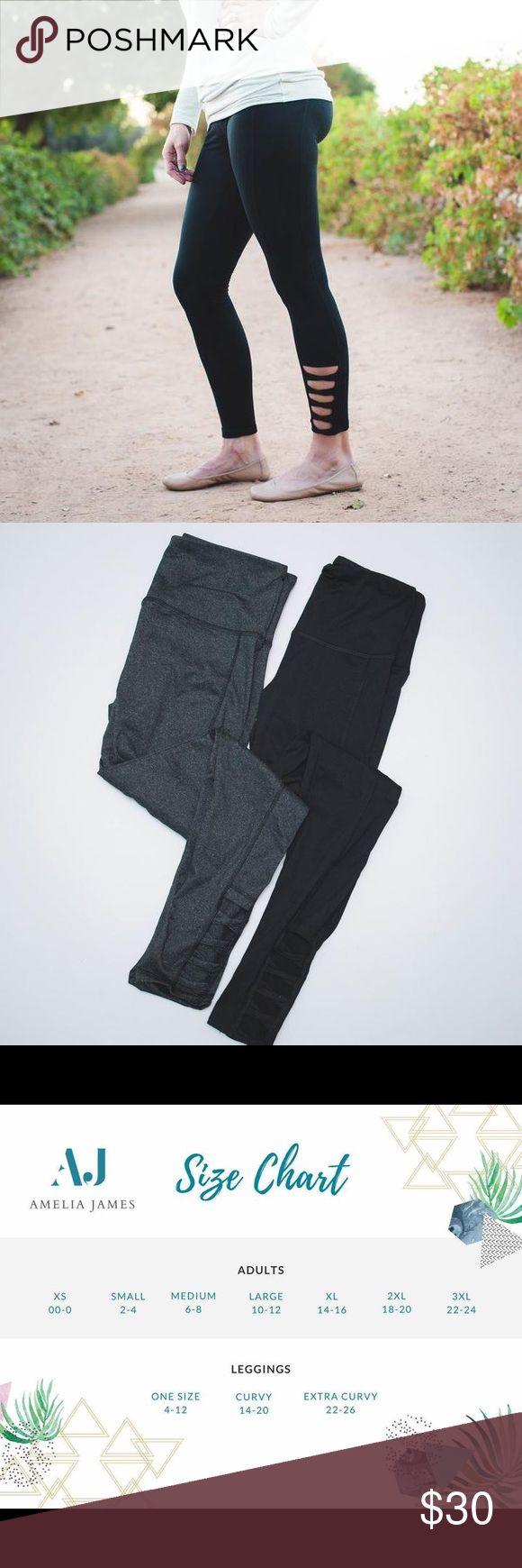 Amelia James- Tahoe Leggings Made by Amelia James Tahoe Active Leggings-Black New with tags Amelia James Pants Leggings