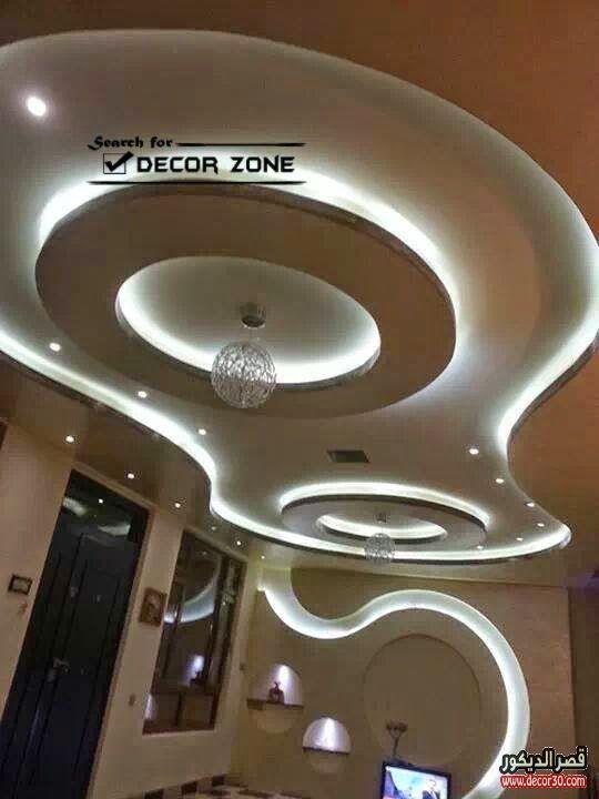 ديكورات جبس احدث ديكورات جبسية للشقق والفلل ٢٠١٨ قصر الديكور False Ceiling Design False Ceiling Ceiling Design