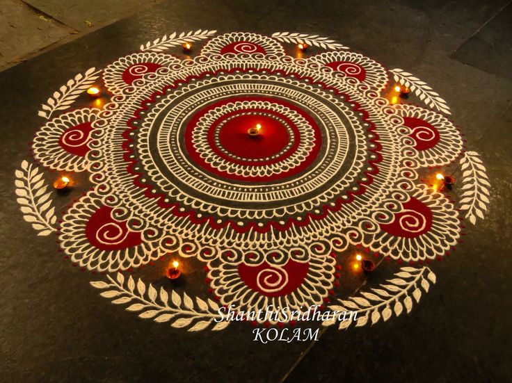 161 best images about muggulu on pinterest more pink for Floor rangoli design
