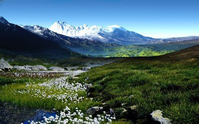 Spring in the mountains wallpaper