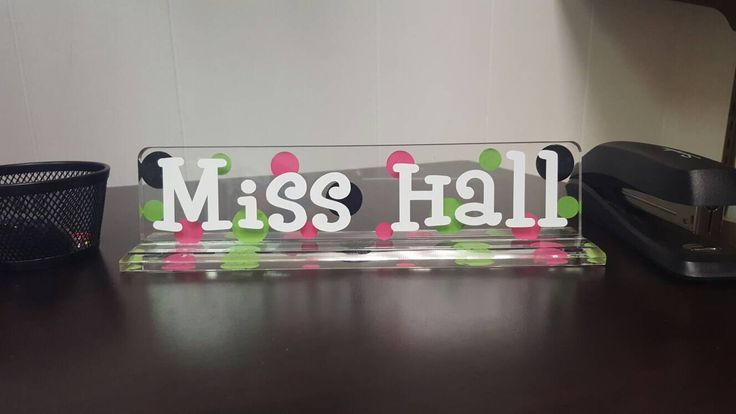 """Personalized Desk Name Plate - 10"""" - TEACHER GIFT - End of the Year - Student Teacher - Graduation by embellishboutiquellc on Etsy https://www.etsy.com/listing/73886611/personalized-desk-name-plate-10-teacher"""
