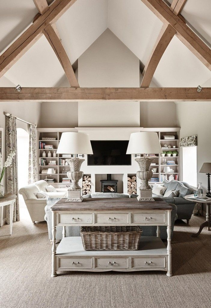 Family Rooms, Interior Design By Sims Hilditch, Beams In Ceilings, Vaulted  Ceiling, Neutrals Part 44