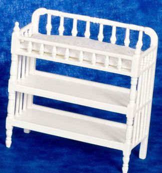 Dollhouse Miniature Victorian Home Decorating | AZT5547 - Victorian Changing Table, White