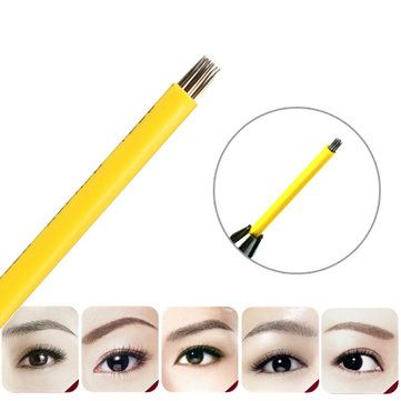 Maquillage jetable Maquillage de sourcils Tatouage Microblade sourcils 3D 17 aiguille ronde