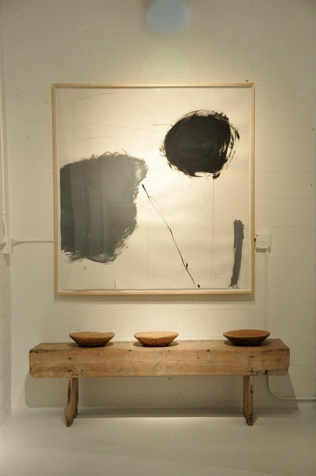 Raw wood bench, Grey Art Print, Soft colors, Interiors