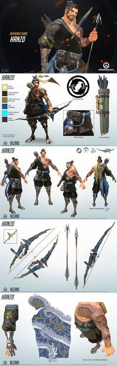Hanzo reference guide #ow #game #overwatch #cosplay #costume