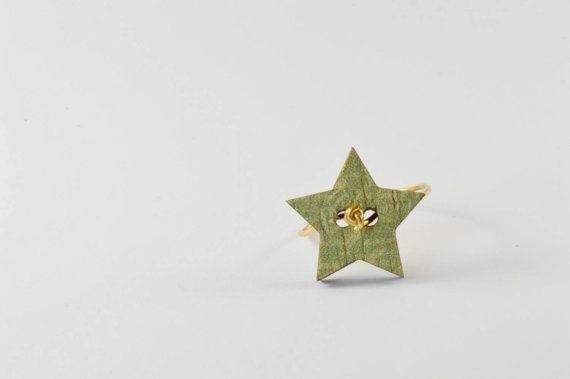 $12 star button ring