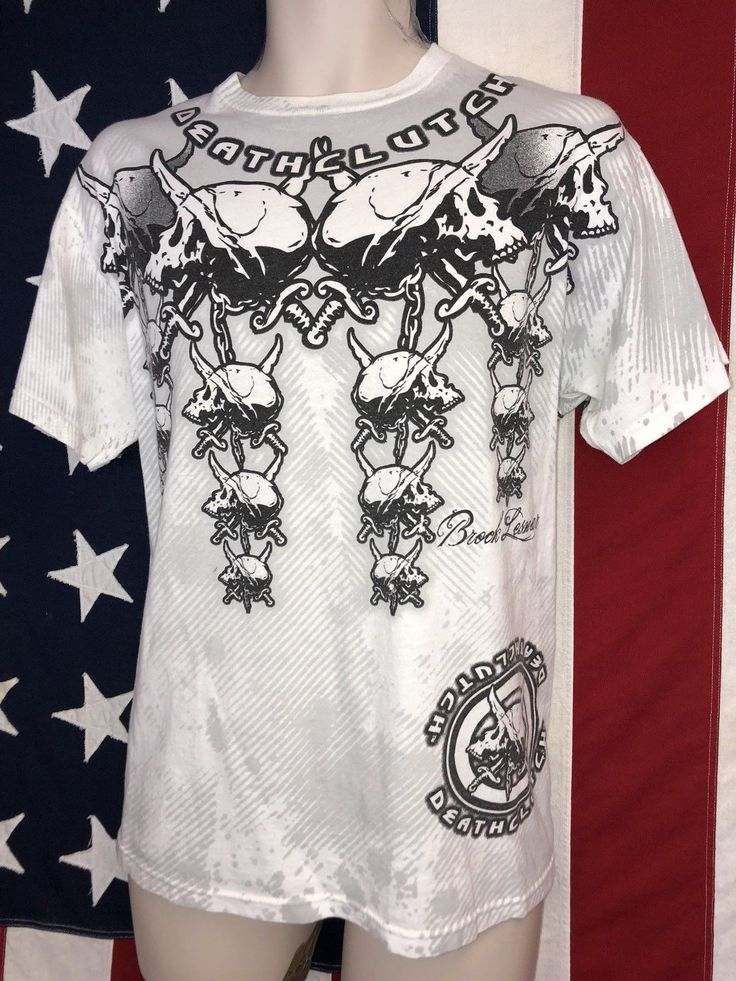 Authentic Death Clutch Brock Lesnar Mens White T-Shirt M UFC 100 Walkout RARE - http://bestsellerlist.co.uk/authentic-death-clutch-brock-lesnar-mens-white-t-shirt-m-ufc-100-walkout-rare/