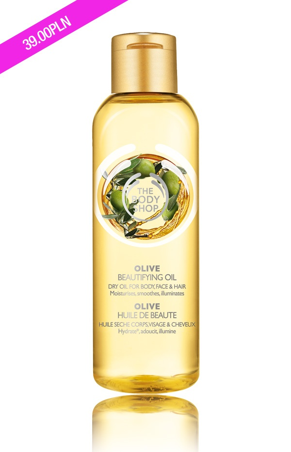 Olejek o zapachu oliwkowym.