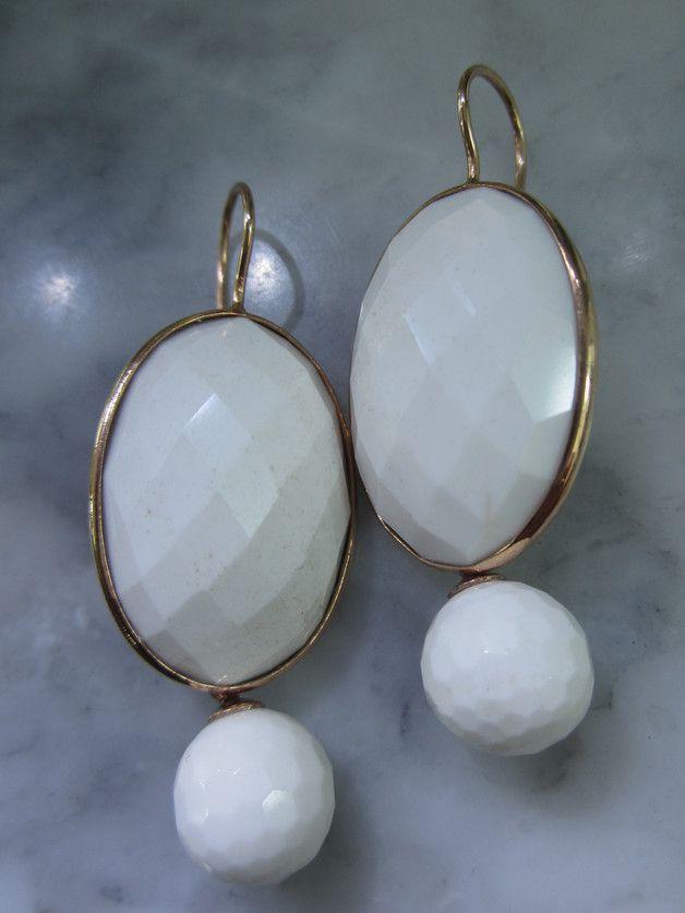 Ohrhänger - Rose Gold Ohrringe Onyx Ohrstecker Ohrhänger Ring - ein Designerstück von TOMKJustbe bei DaWanda