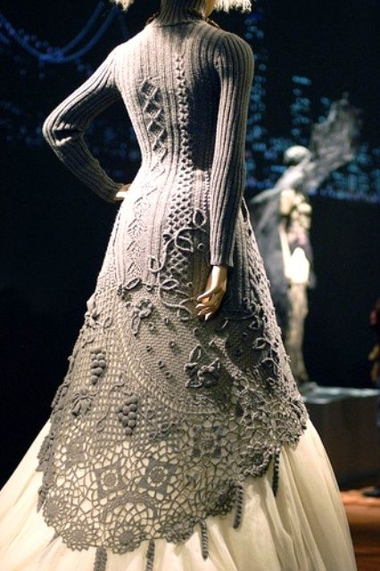 Vintage knit lace coat -- oooh sooo beautiful!