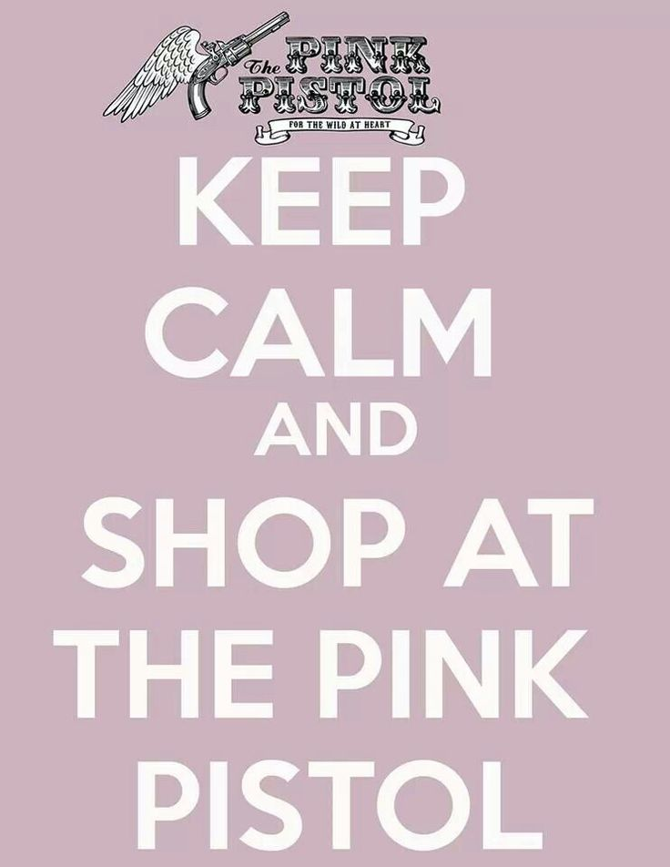 One day I will go to Oklahoma, simply to shop at the Pink Pistol.