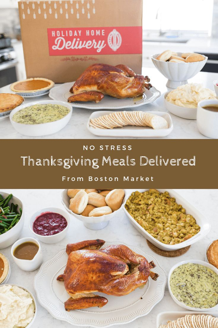 Boston Market No Stress Thanksgiving Dinner Delivery