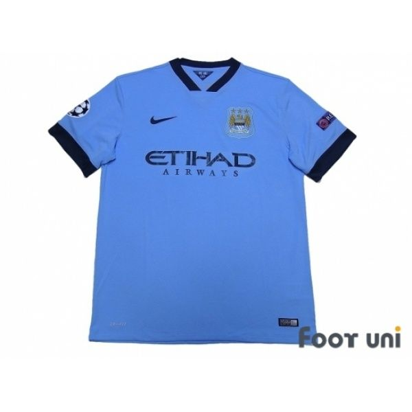 Photo1: Manchester City 2014-2015 Home Shirt Champions League Patch/Badge Respect Patch/Badge nike - Football Shirts,Soccer Jerseys,Vintage Classic Retro - Online Store From Footuni Japan