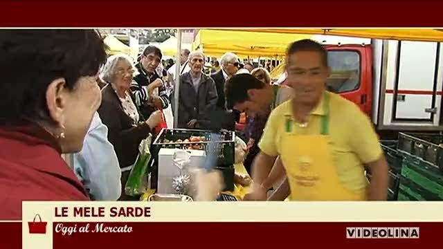 Al mercato di della Coldiretti. Le mele sarde. Una ricetta al giorno: Al ristorante '' Sei Ottavi'' lo chef Bebo ci prepara, Filetto di manzo al cannonau e bacche di ginepro.