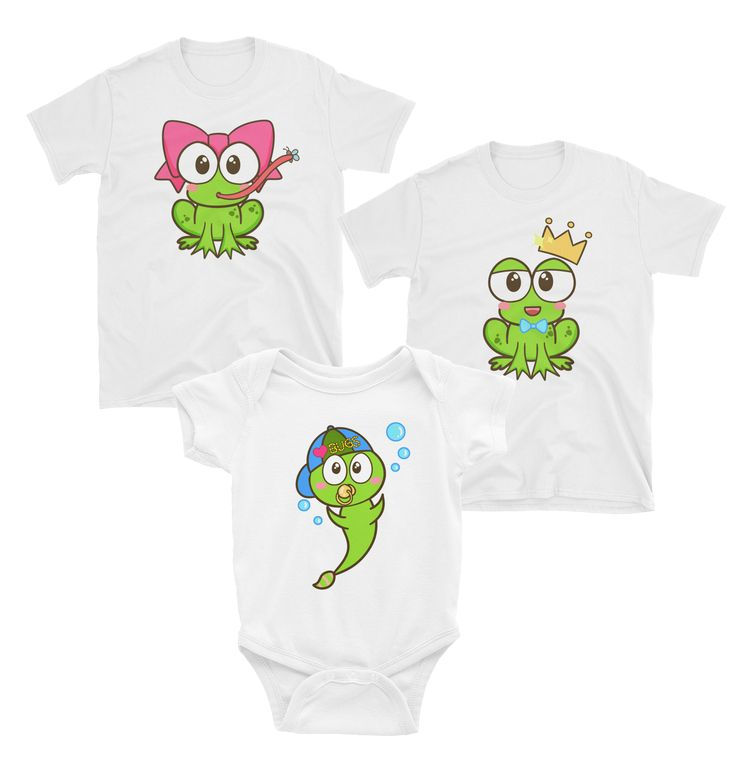 Speckled Frogs Matching Family T-Shirt and Onesie Set – Winky Shiba Co.