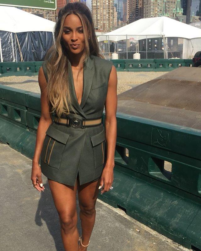 Idea to style my Banana Republic army green long vest. ..As soon as I got Ciara's body