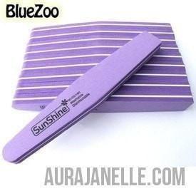 BlueZoo 10 Piece Nail File Buffer Set - Purple