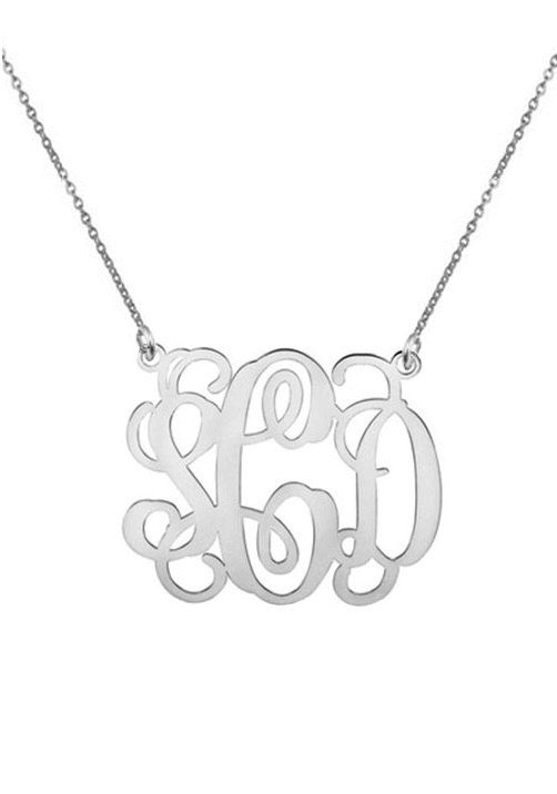 Any intial necklace  personalize silver by justforfundesign, $26.00
