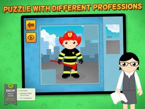 New app for kids - Professions Puzzle - Logic Learning Game with Different Occupations like Police Officer, Firefighter, Construction Worker, Astronaut for Toddlers and Preschool Kids - Premium http://www.appysmarts.com/application/professions-puzzle-logic-learning-game-with-different-occupations-like-police-officer-firefighter-construction-worker-astronaut-for-toddlers-and-preschool-kids-premium,id_103909.php