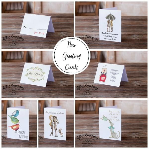 I'm going to be sharing a glimpse into some of my new greeting cards. There's a new variety of birthday, friendship, love