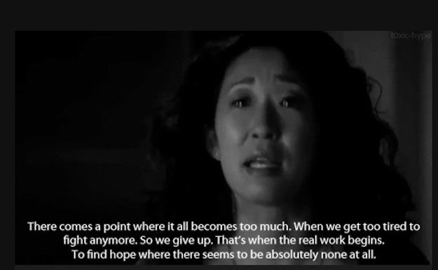 She knows she's a BOSS. But she also admits when she's feeling vulnerable... | 27 Reasons Why Cristina Yang Is Everything You Aspire To In Life