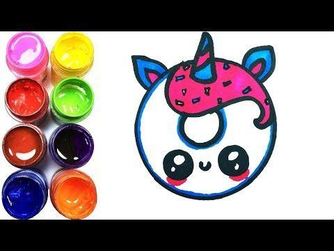Como Dibujar Un Unicornio Donut Kawaii Dibujos Para Dibujar