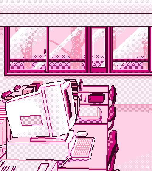 computer kawaii pink pixel art pixel pixels pixelated