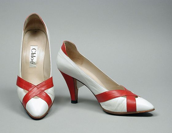 Pair of Woman's Pumps. Made Italy, 1983. Karl Lagerfeld; Chloé | LACMA Collections