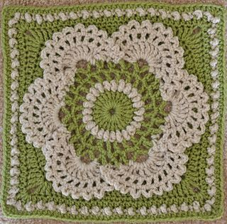 Cow Parsley Afghan Square, free crochet pattern by Lettice Rose ༺✿ƬⱤღ https://www.pinterest.com/teretegui/✿༻