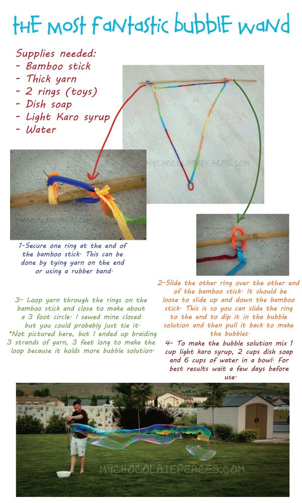 The Most Fantastic Bubble Wand + Recipe from My Chocolate Peaces
