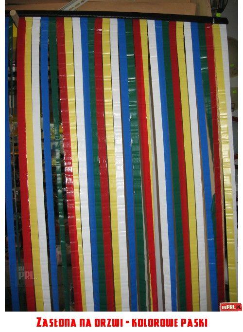 Zasłona na drzwi - kolorowe paski