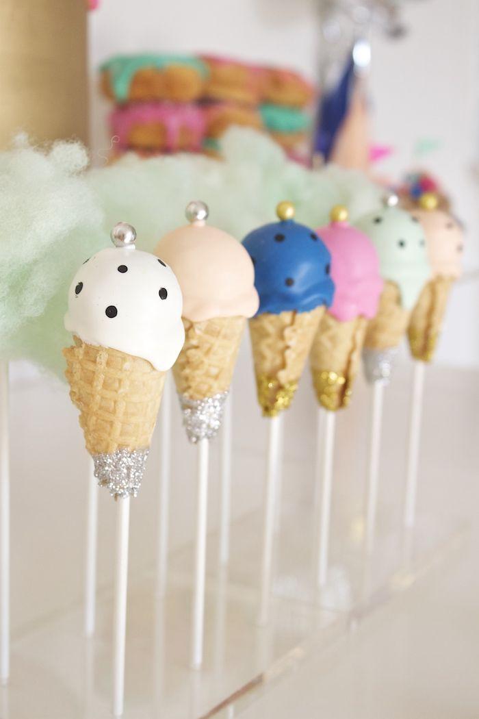 Ice Cream Cake Pops from a Circus Birthday Party via Kara's Party Ideas KarasPartyIdeas.com (27)
