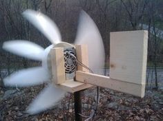 How to make a wind generator from an ordinary table fan.