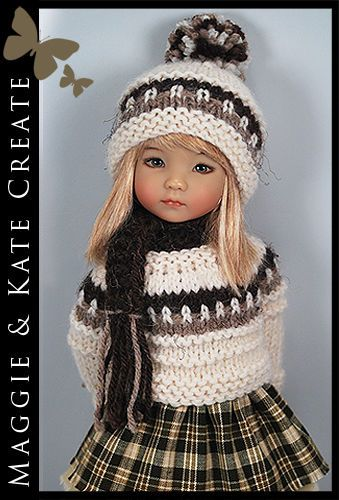 """OOAK ** FALL** Outfit for Little Darlings Effner 13"""" by Maggie & Kate Create"""