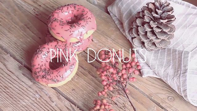 Pink Donuts by Domenico Ruffo. How to make a vegan donuts