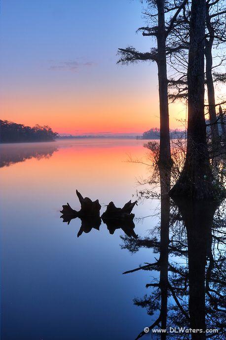 Sunrise, Pasquotank River at Elizabeth city North Carolina.