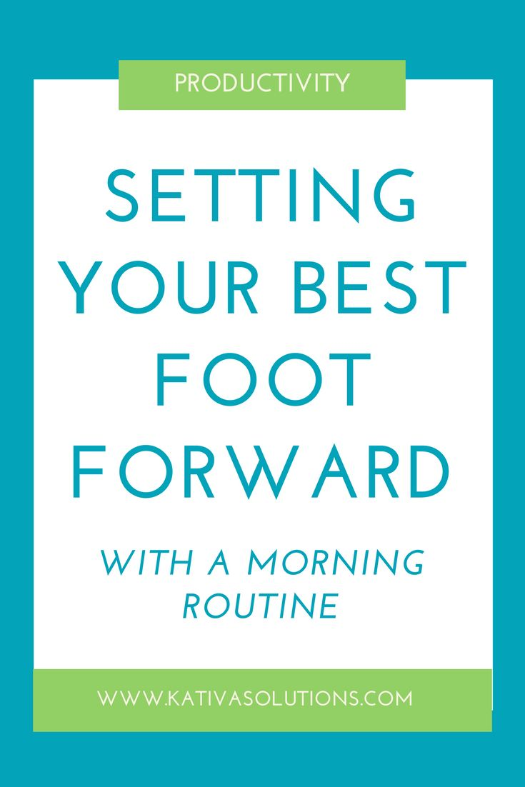 How a morning routine can set you you for a productive day. Tips to start your day off right.