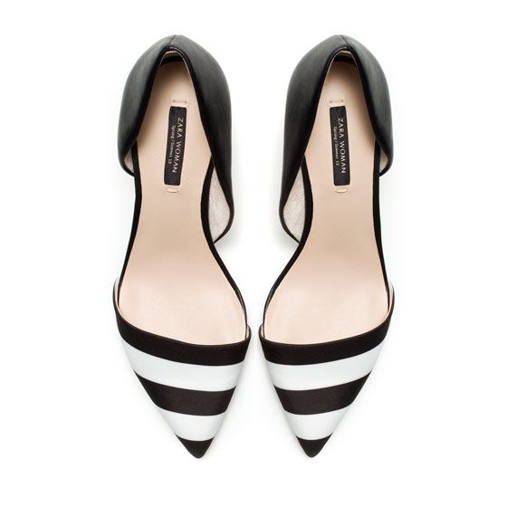 BLACK AND WHITE COMBINATION HEELS