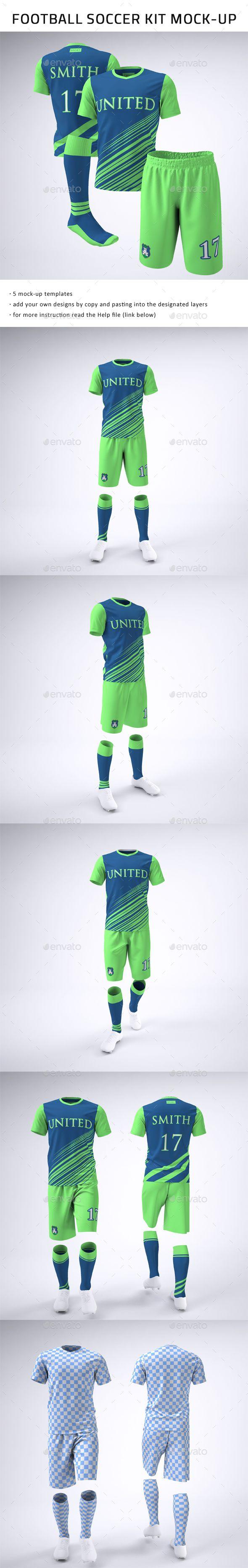 Soccer Football Team Uniform Mock-Up
