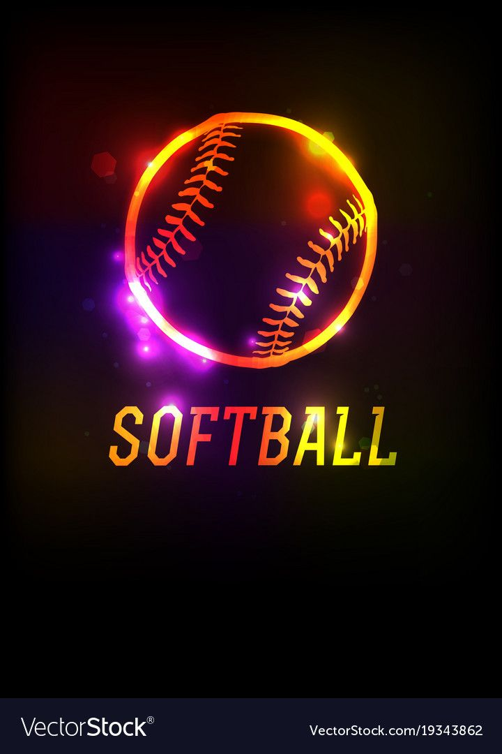Glowing Softball Icon Background Royalty Free Vector Image Aff Icon Background Glowing Softball Ad Softball Backgrounds Softball Vector Free