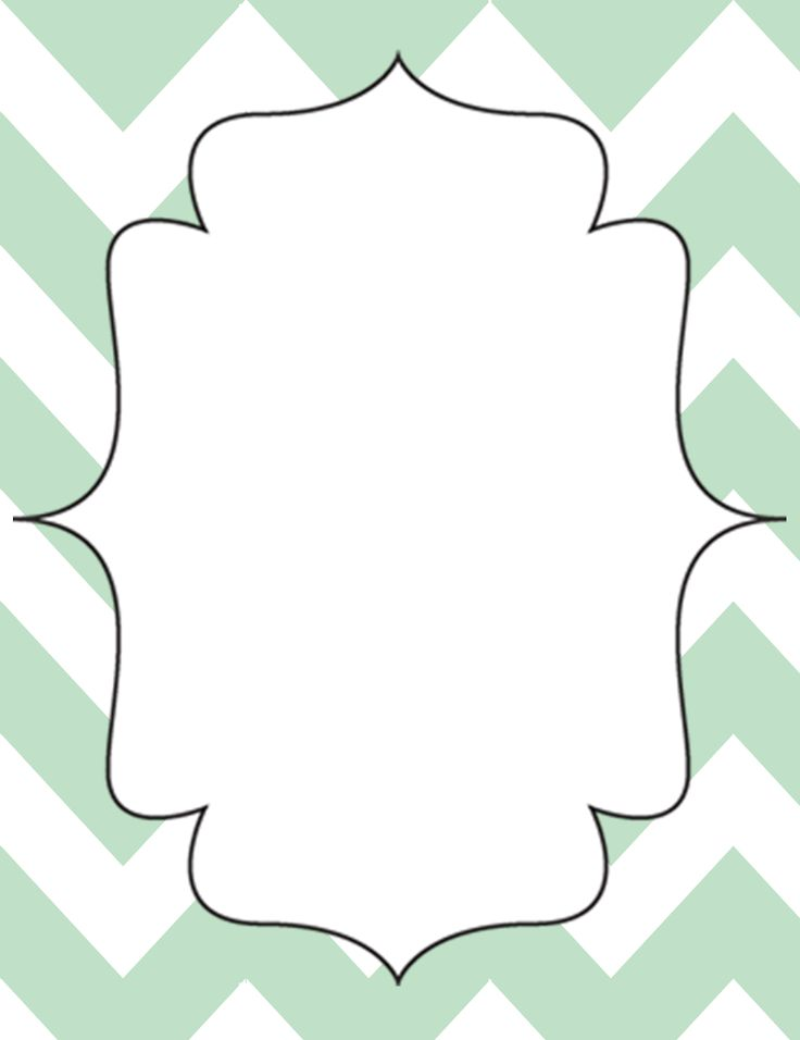 Printable Binder Cover Templates | Mint Green Chevron Open-Binder Calendar