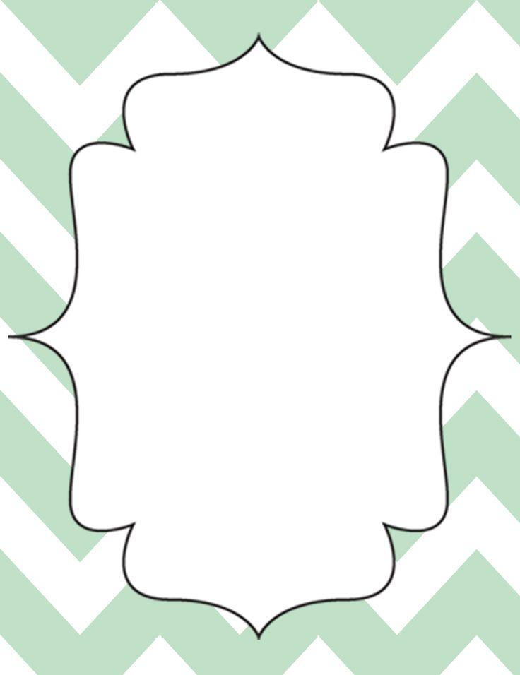 Printable Binder Cover Templates | Mint Green Chevron Open-Binder Calendar