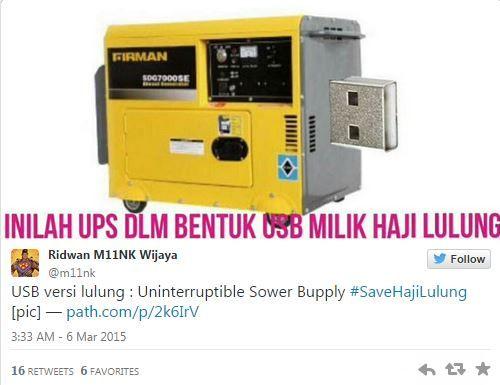 #SaveHajiLulung: UPS