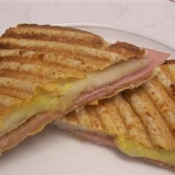 Ham Pear and Mozzarella Toasties