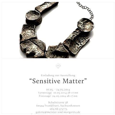 EXPO sensitive matter - Corrado de Meo - galerie Meister & Margarita