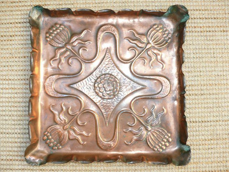 19thc Arts Amp Crafts Copper Romola Tray With Scottish