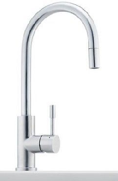 FRANKE KITCHEN SINK MIXER TAP MOD. EOS PULL OUT SPRAY STAINLESS STEEL | eBay