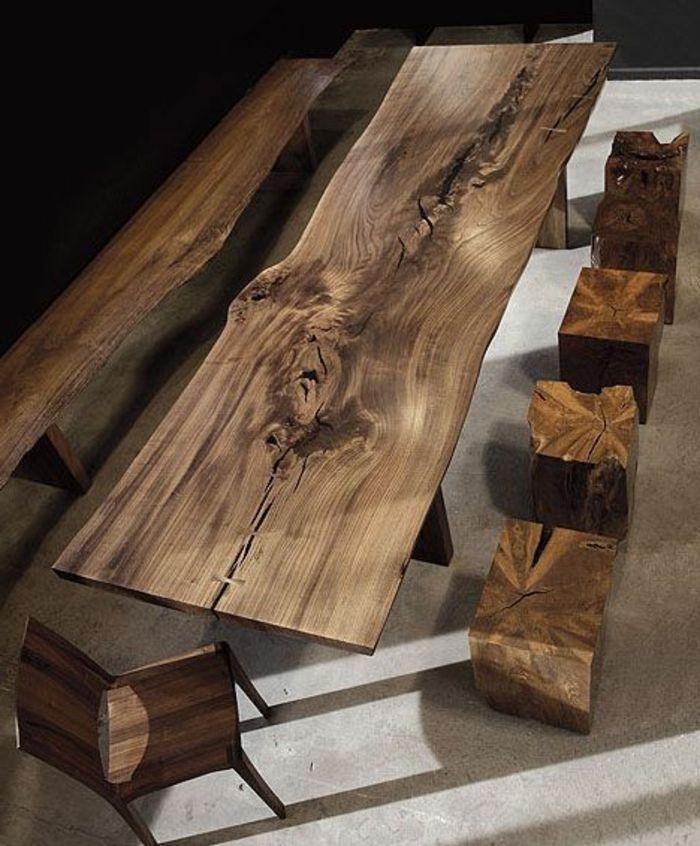 Die Rohholzmobel Sind Eine Schone Naturliche Note Fur Den Innenraum Archzinefr In 2020 Raw Wood Furniture Wood Wooden Table Restaurant