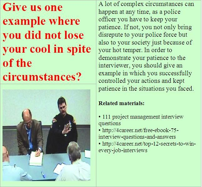 Best Police Cadet Interview Questions Images On